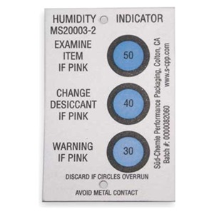 Desiccant - Humidity Indicator Cards