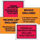 Packing List Envelopes - Important Papers