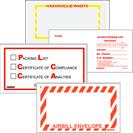 Packing List Envelopes - Miscellaneous